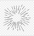 sun burst sunshine rays lines icon vector image