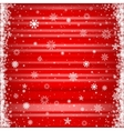 The red snowy background vector image
