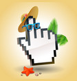 travel cursor hand icon vector image vector image