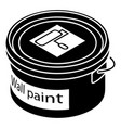 wall paint bucket icon simple style vector image vector image