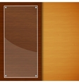 Wood brochure with glass frame vector image