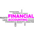 word cloud - financial accounting vector image vector image