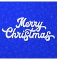 Xmas 3d lettering on blue Christmas background vector image vector image