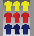yellow red and blue polo t shirt vector image vector image