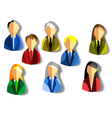 business people icons2 vector image