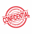 Confidential rubber stamp isolated vector image