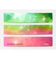 Abstract banner templates vector image vector image