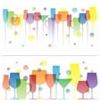 Abstract colorful of wine drink vector image