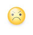 angry smiley emoji face annoyed cute cartoon vector image vector image