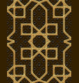 arabic seamless pattern embroidery with gold vector image vector image