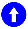 Arrow white in blue circle sign vector image vector image