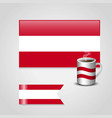 austria flag design vector image