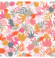 autumn abstract doodle leaves background vector image vector image