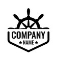 badge with ship steering wheel isolated on vector image vector image