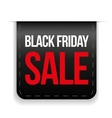 Black Friday Sale ribbon vector image vector image
