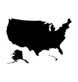 black silhouette country borders map of united vector image vector image