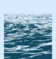 blue sea with big waves vector image