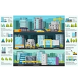 Building Orthogonal Infographics vector image vector image
