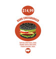 burger poster burger style fast food vector image