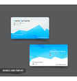 Business Card template set 52 blue and geometry vector image vector image