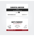 Business cards design for trainers and vector image