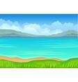 calm blue sea on white vector image vector image