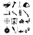 camping icons set vector image