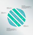 Circle template consists of five blue parts on vector image vector image