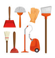 colorful set of cleaning supplies vector image vector image