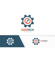 compass and gear logo combination vector image vector image