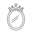 crown mirror princess decoration accessory vector image vector image