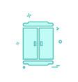 cupboard icon design vector image vector image