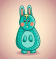 Cute cartoon bunny 2 vector image vector image