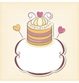 Cute cupcake design frame