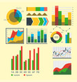 design diagram chart elements vector image