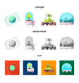 design of mars and space icon collection vector image