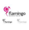 digital flamingo logo vector image