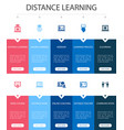 distance learning infographic 10 option ui design vector image