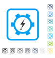 electric energy gear wheel framed icon vector image