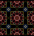 embroidery seamless pattern for the ceramic tiles vector image vector image