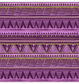 Ethnic seamless pattern Tribal art boho print vector image