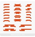 festive ribbon part 1 2 vector image vector image