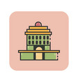 flat color oakland city hall icon vector image vector image