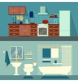 flat for rooms of apartment vector image vector image