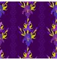 Floral dark seamless pattern Flower iris vector image vector image