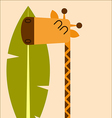 Friendly giraffe vector image