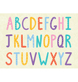 Funny long letters alphabet vector image