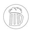 glass beer icon design vector image