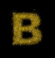 gold dust font type letter b vector image