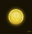 golden leo sign vector image vector image